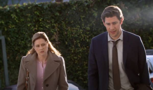 15. In the final season of The Office, Pam and Jim have marital issues.