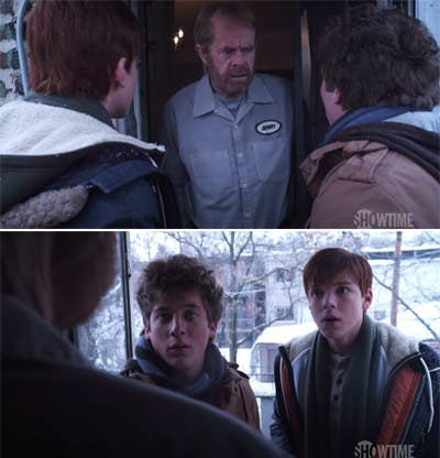 6. In Shameless, Ian, and Lip get DNA tests and discover that Ian is not Frank's son, but one of Frank's brother's sons.