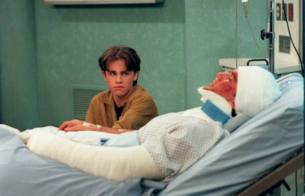 14. In Boy Meets World, Mr. Turner gets into a motorcycle accident.