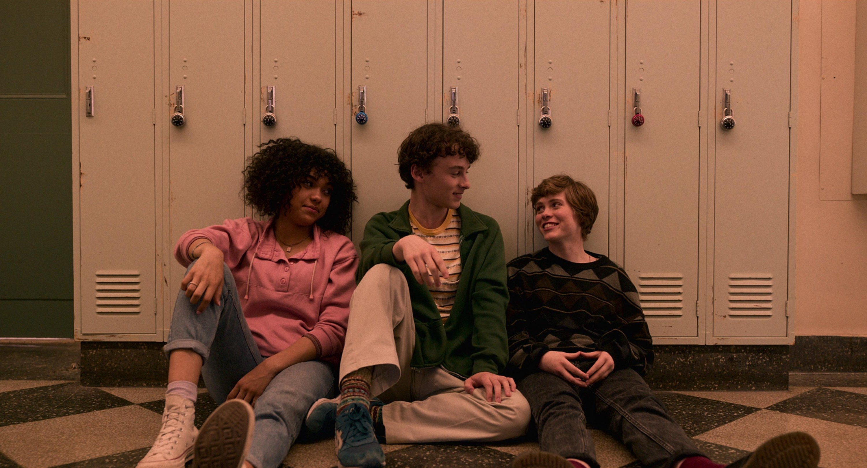 Sofia Bryant, Wyatt Oleff, and Sophia Lillis in I Am Not Okay With This