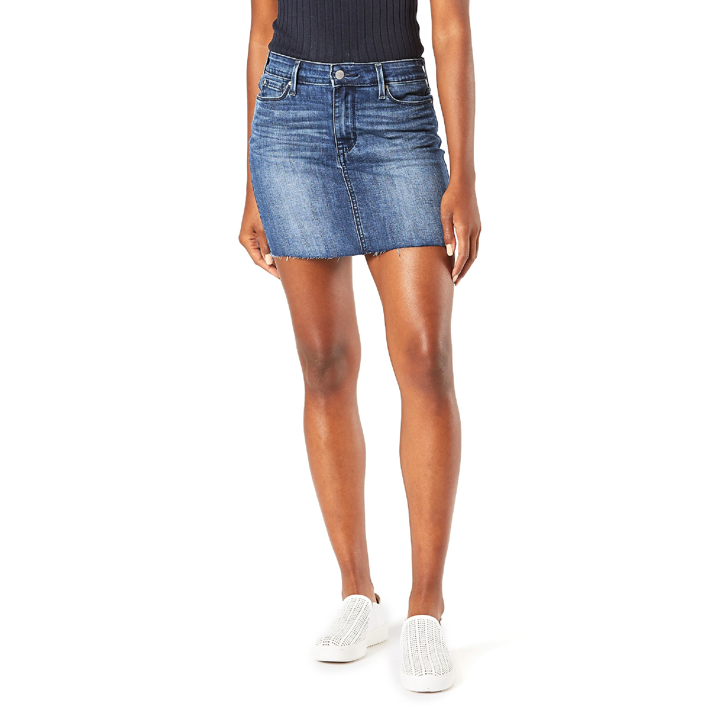 The classic denim mini skirt