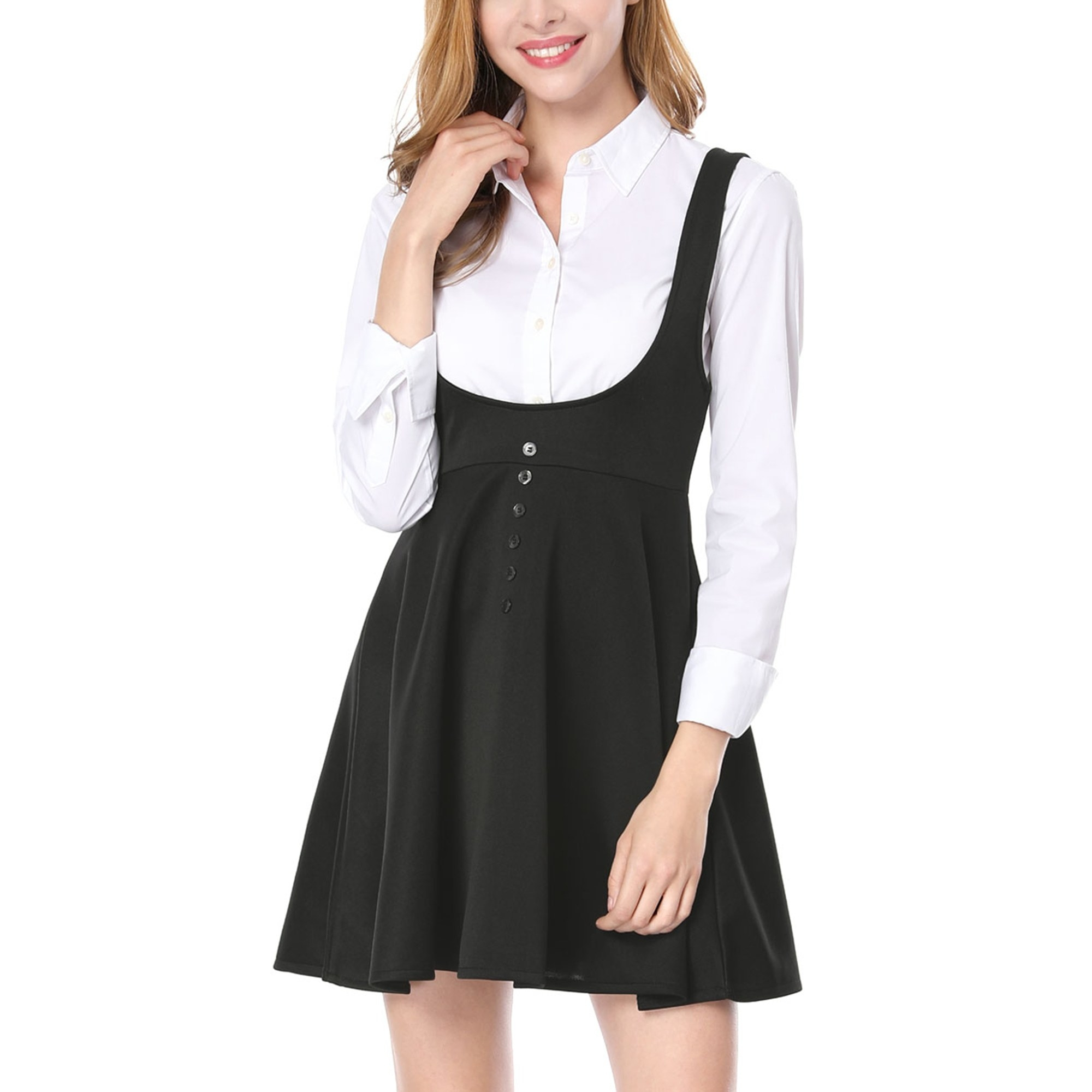 The black suspender dress