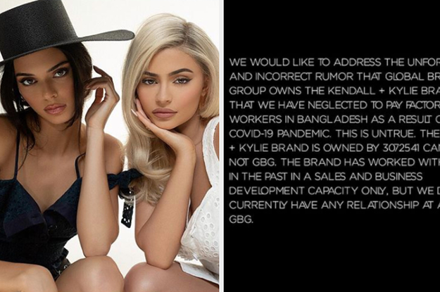 Kendall And Kylie Jenner Responded To Claims That Their Clothing Brand Failed To Pay Factory Workers In Bangladesh