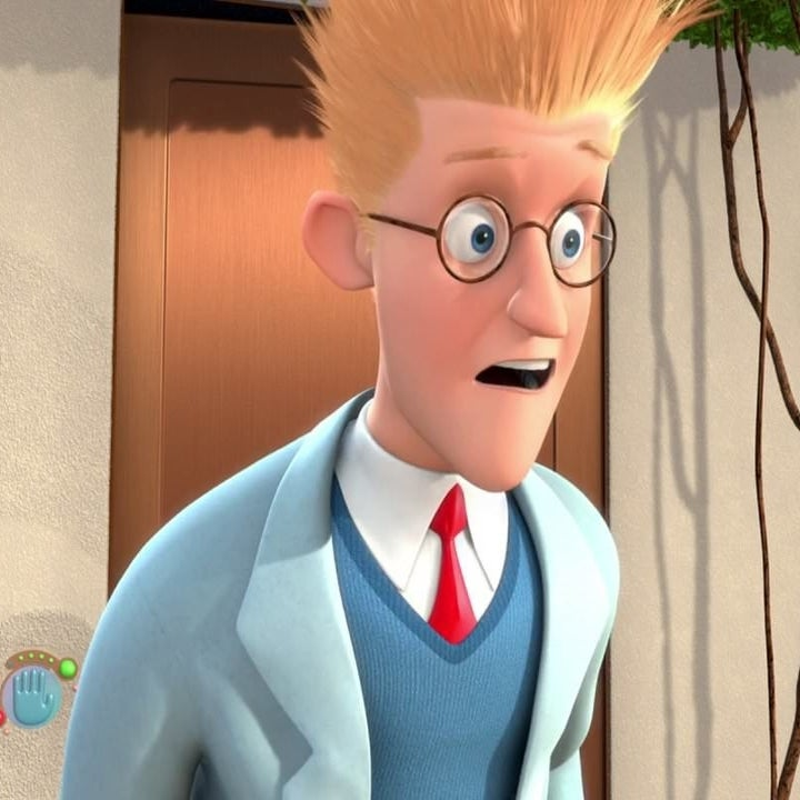"""Lewis as Cornelius, an older version of his childhood self, from """"Meet the Robinsons"""""""