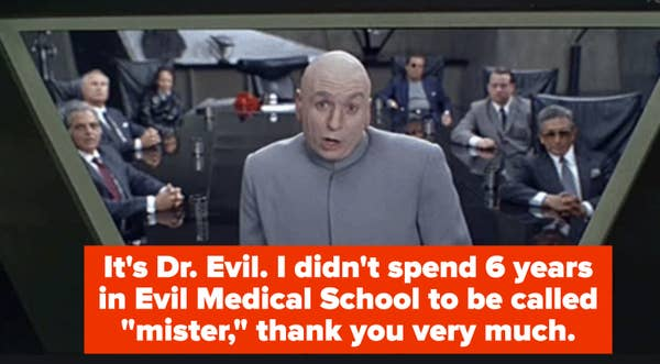Dr. Evil in his truest form