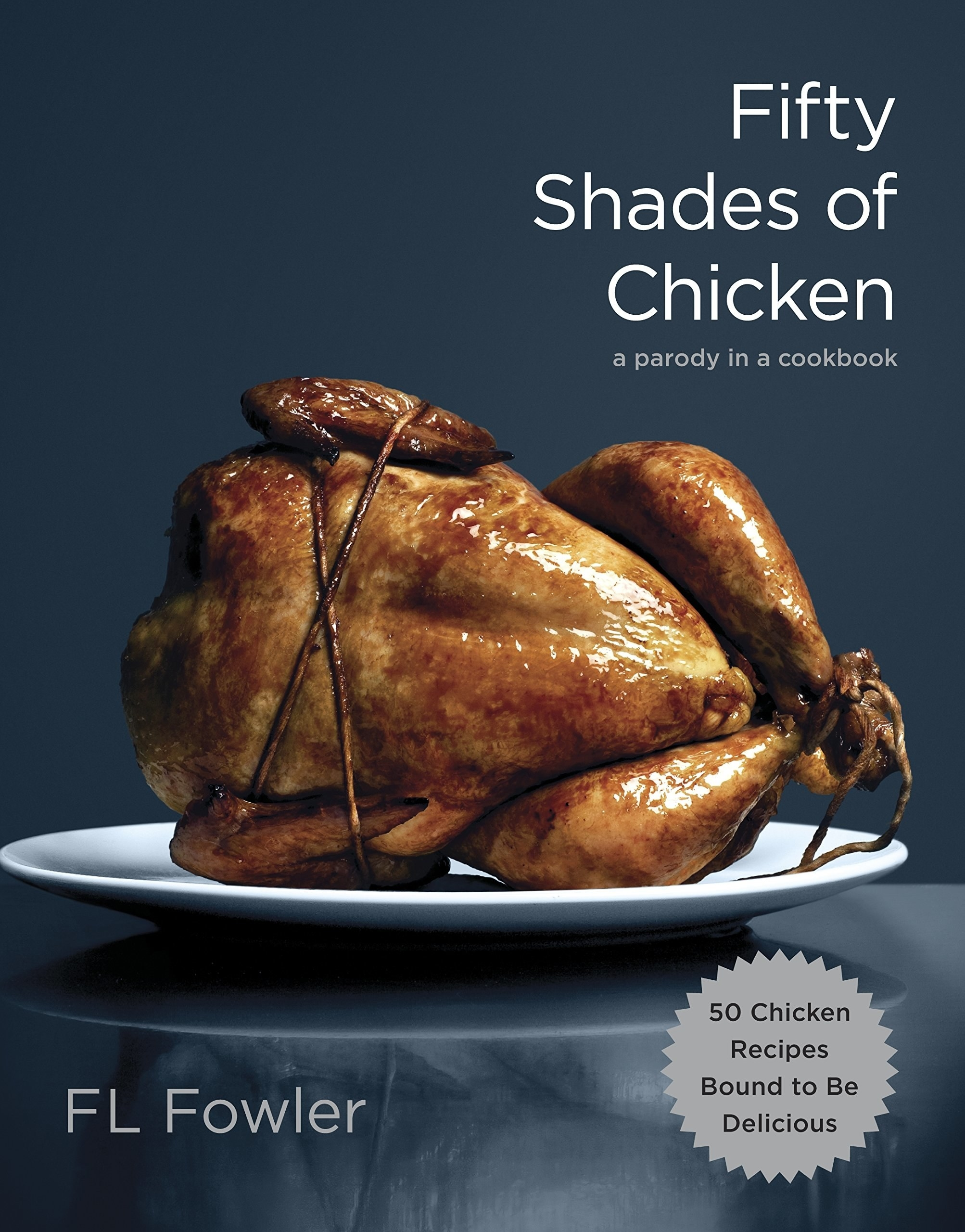 the cover, showing a chicken with its arms and feet wrapped in rope, similar to bondage