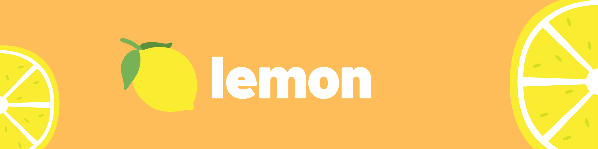 """An image with two animated lemons. The banner reads, """"lemon."""""""