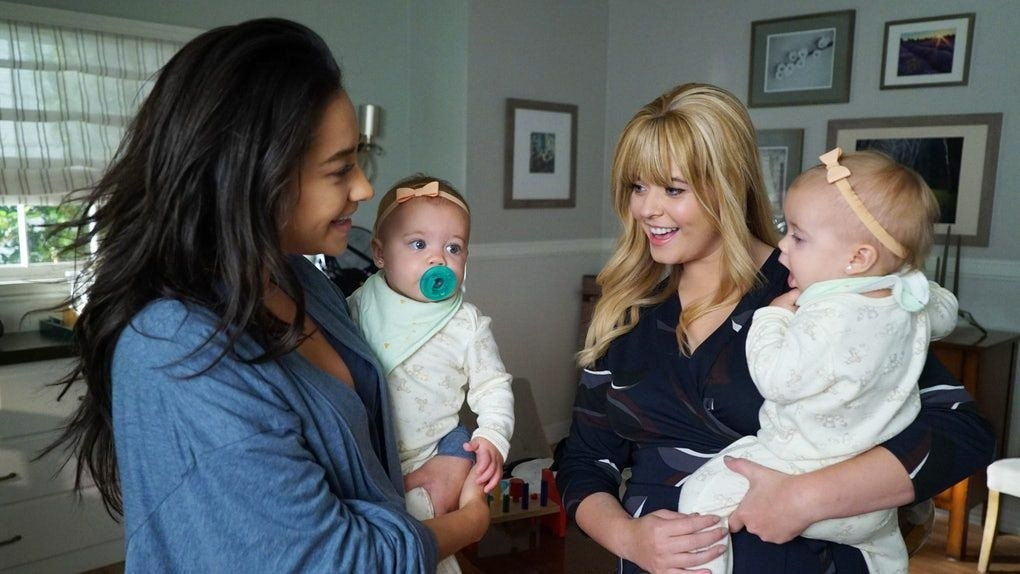 Emily and Alison with their twin daughters