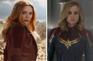 Images of Scarlet Witch and Captain Marvel