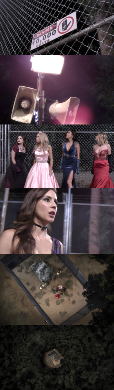 the girls see that there's an electric fence and they're in the middle of nowhere
