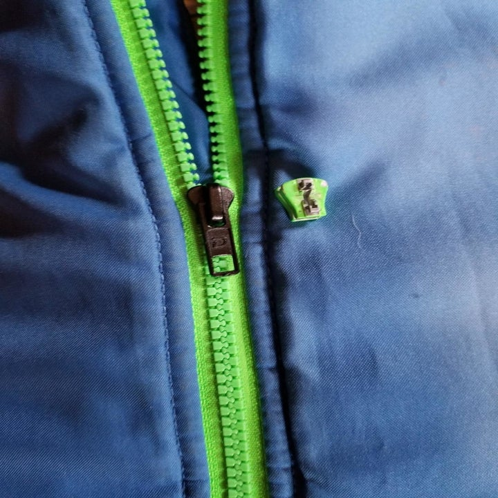 Reviewer's fixed zipper on a jacket