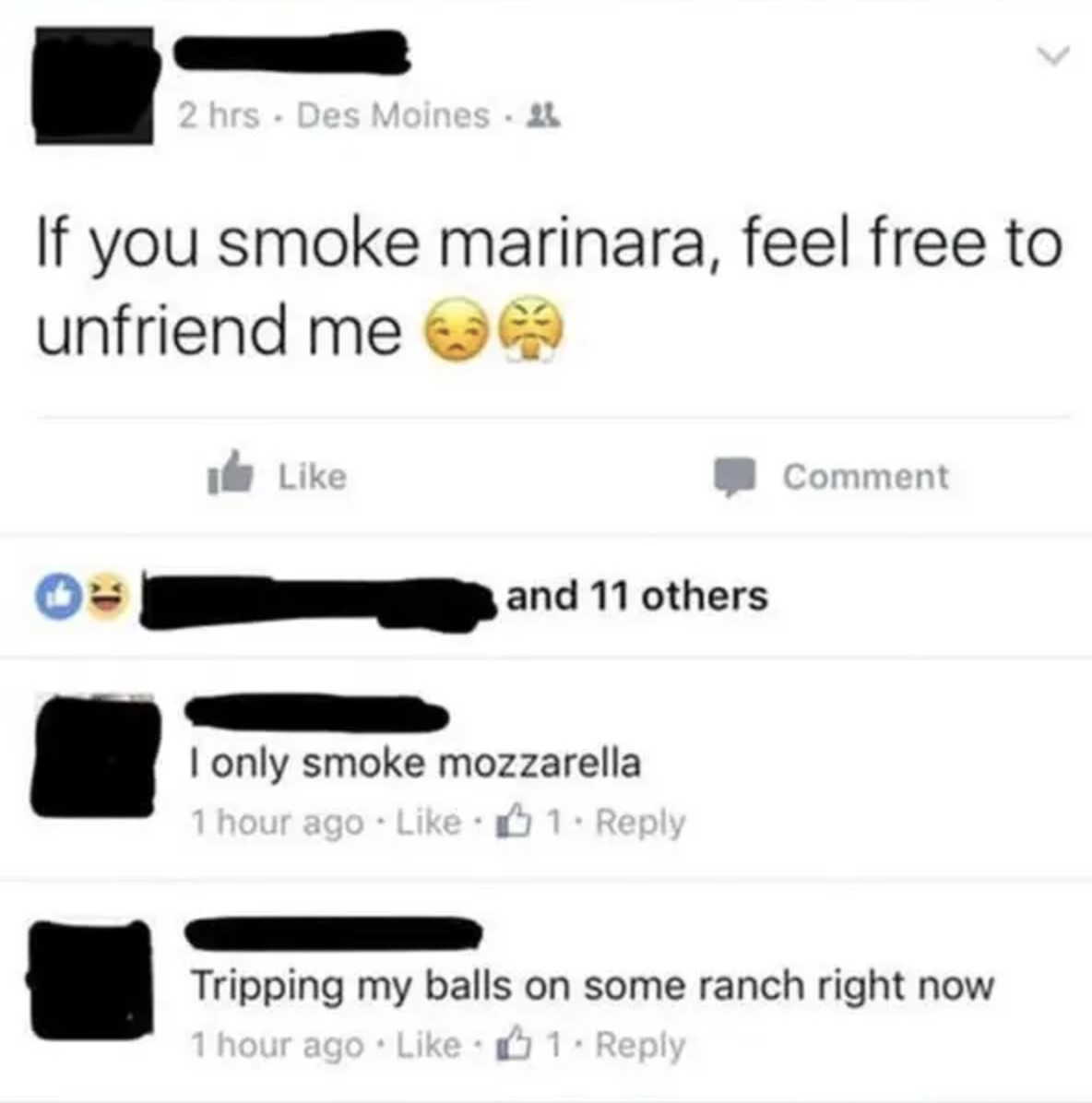 Person misspelling marijuana as marinara