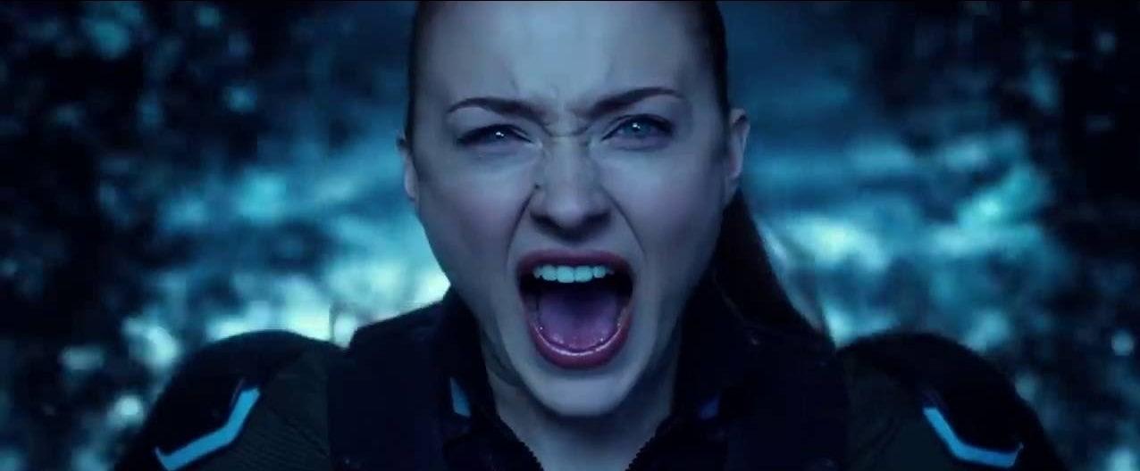 Jean Grey unleashing her Phoenix powers
