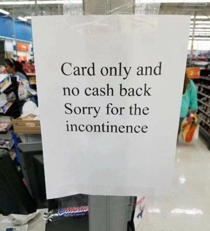 Person misspelling inconvenience as incontinence