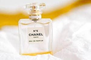 No5 Chanel perfume bottle