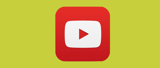 The YouTube logo with a pea green background.