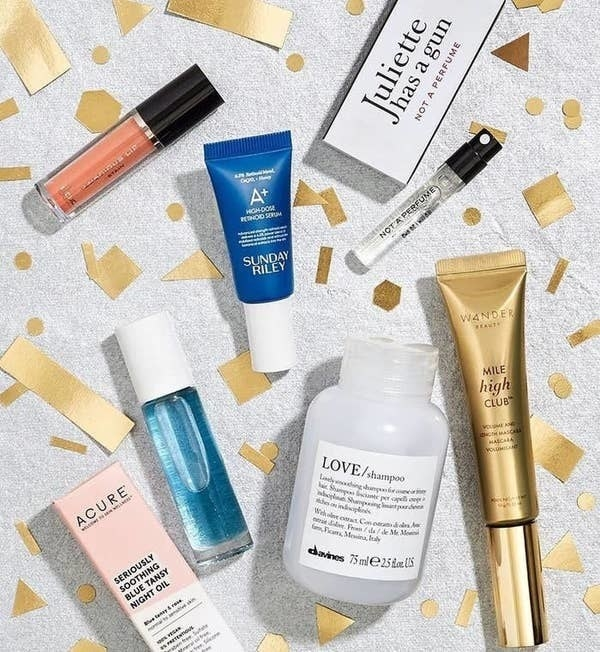Various high-end beauty products