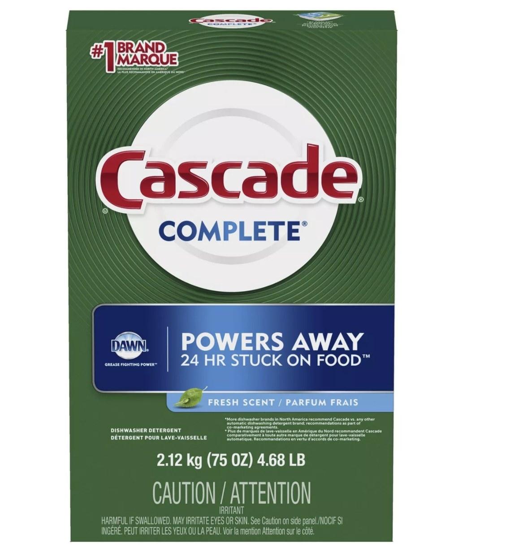 The box of Cascade detergent