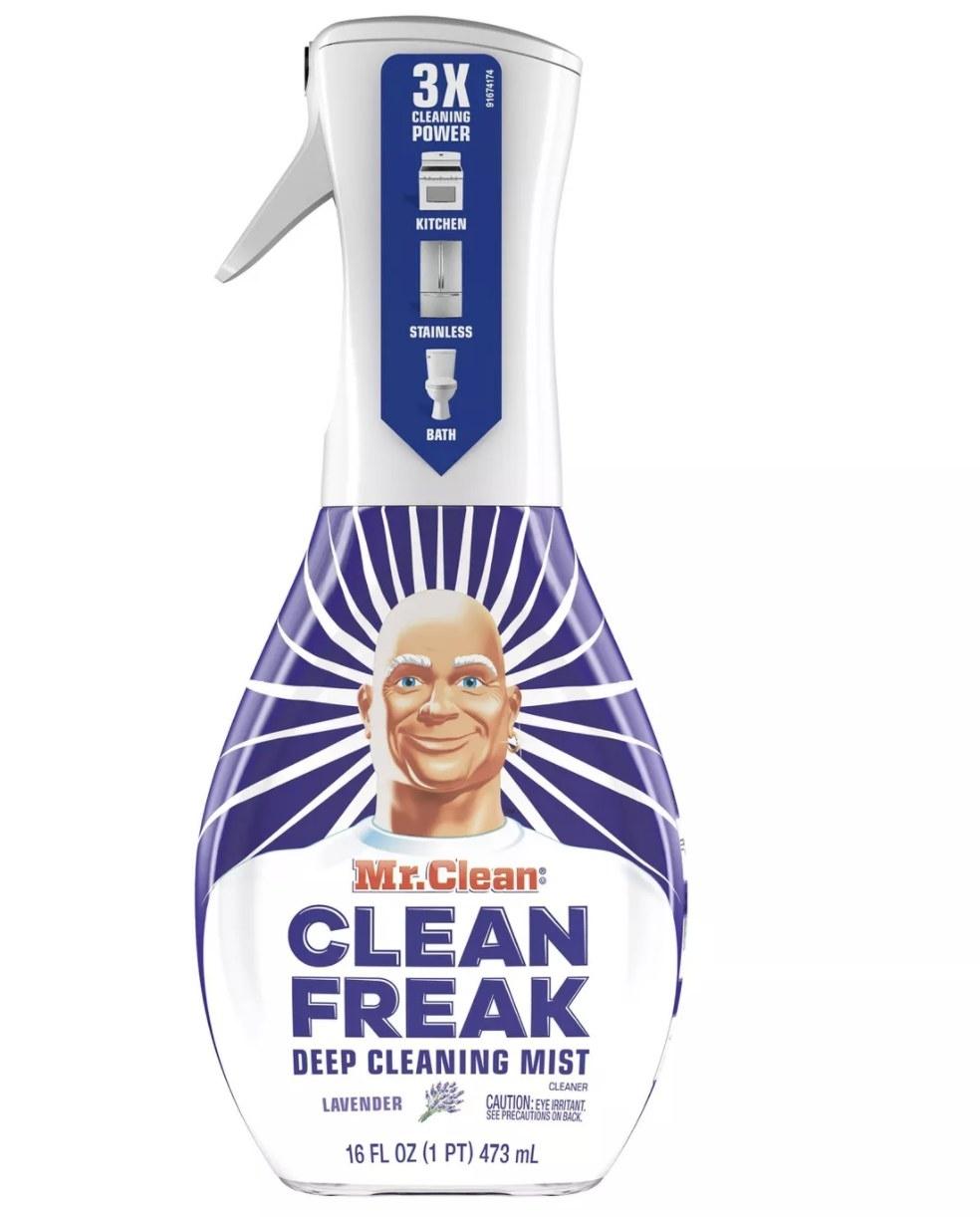 The Mr. Clean spray bottle