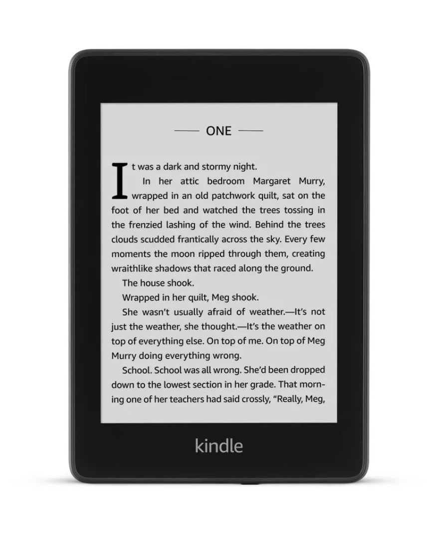 An Amazon Kindle with book text on it
