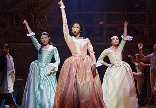 Eliza, Angelica, and Peggy in Hamilton