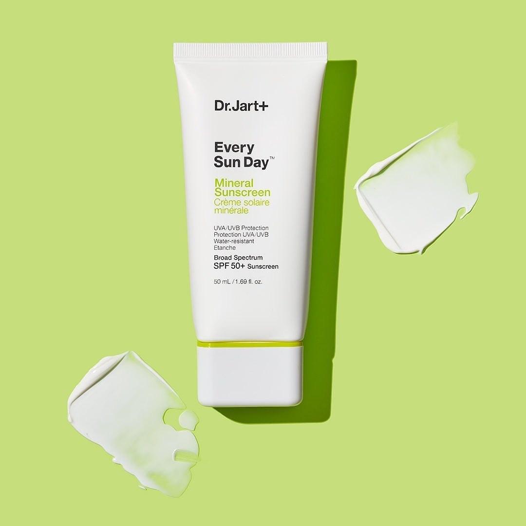 white tube of the sunscreen