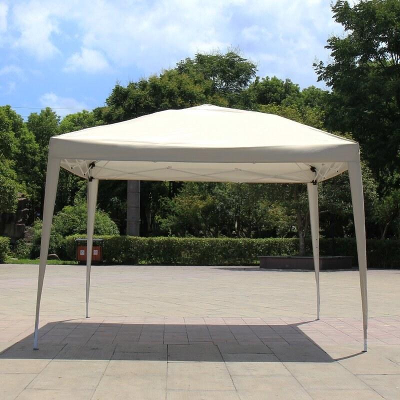 beige fabric square canopy