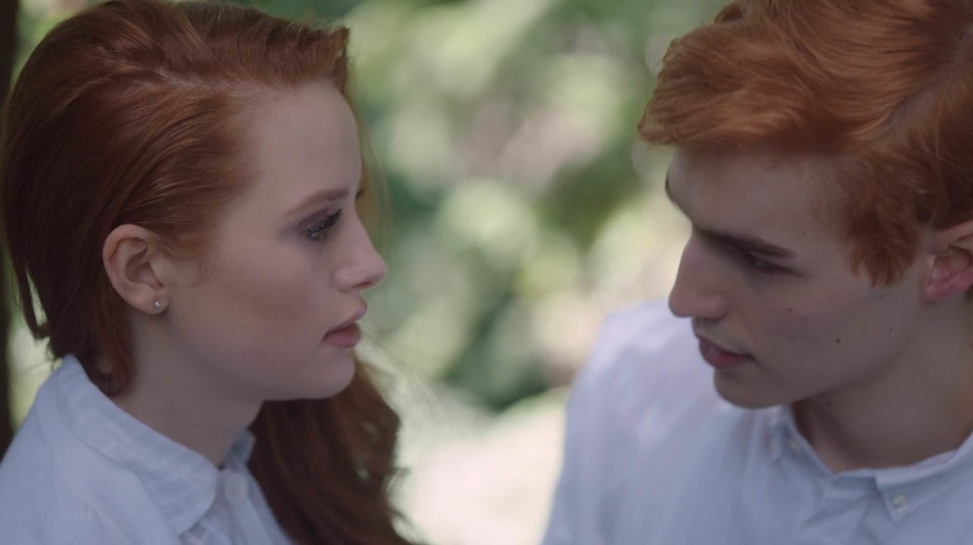 Madelaine Petsch and Trevor Stines as Cheryl and Jason