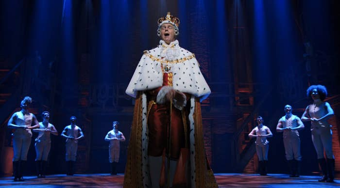 "Jonathan Groff as King George III singing ""You'll Be Back"""