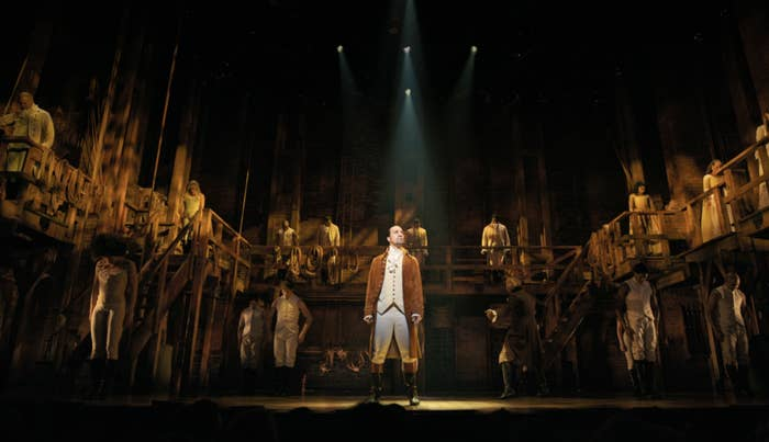 The cast of Hamilton during the opening number