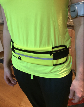 A reviewer in the neon yellow belt