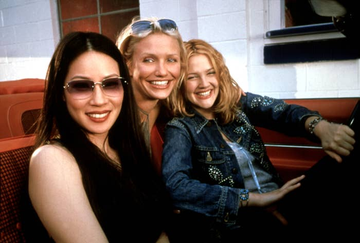 Lucy Liu, Cameron Diaz, and Drew Barrymore in Charlie's Angels