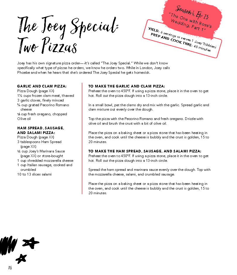 "Recipe page for ""The Joey Special."""