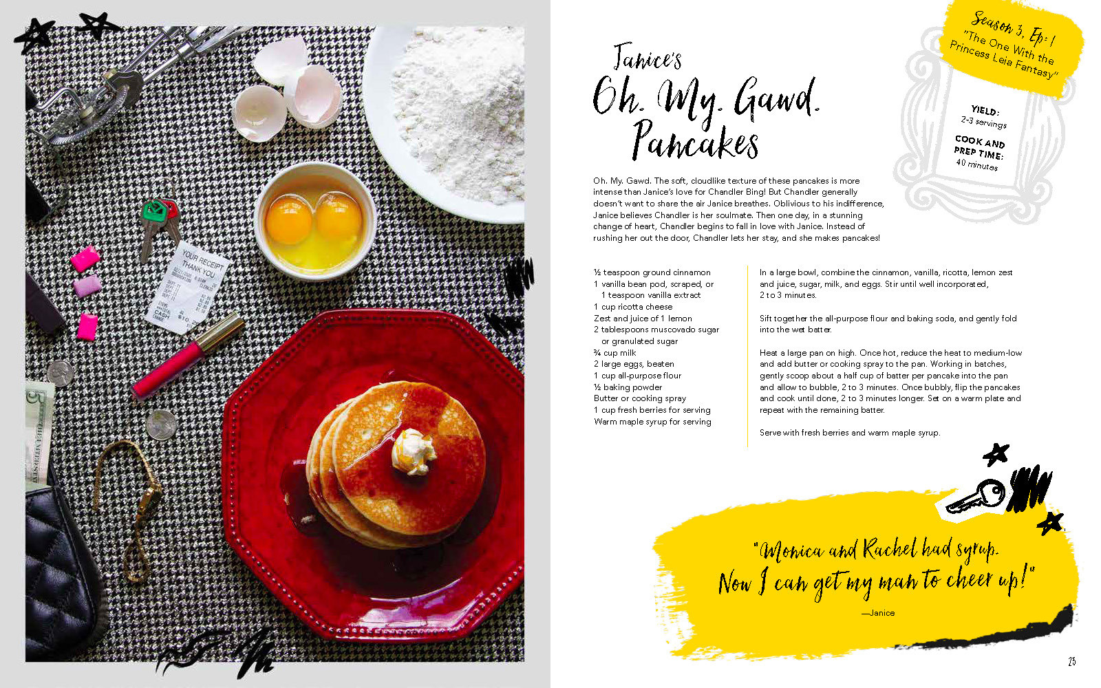 "Recipe page for ""Janice's Oh. My. Gawd. Pancakes."""