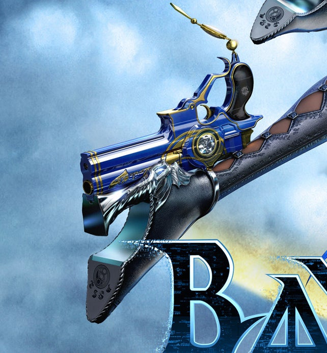 Bayonetta's shoe, which appears to be a pistol attatched to the heel of her shoe