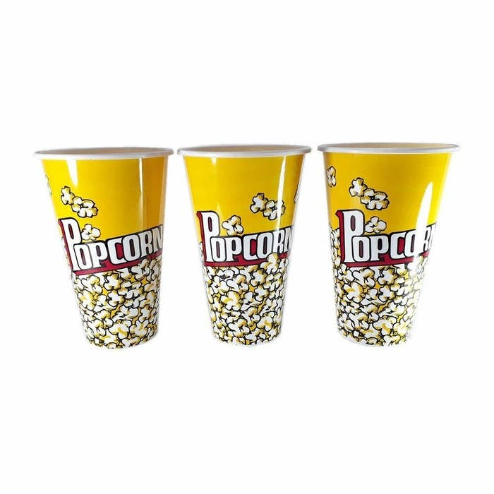 Yellow popcorn containers