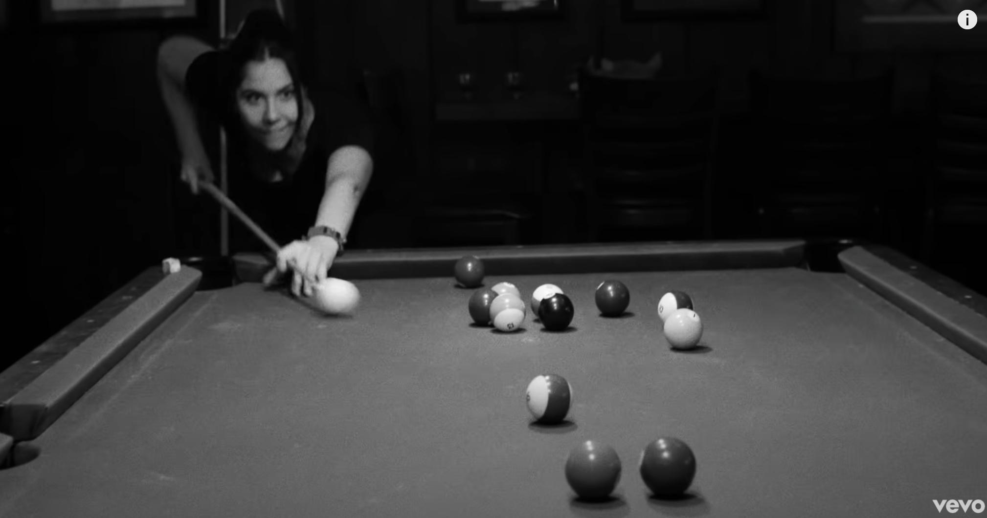 Natali Germanotta playing pool