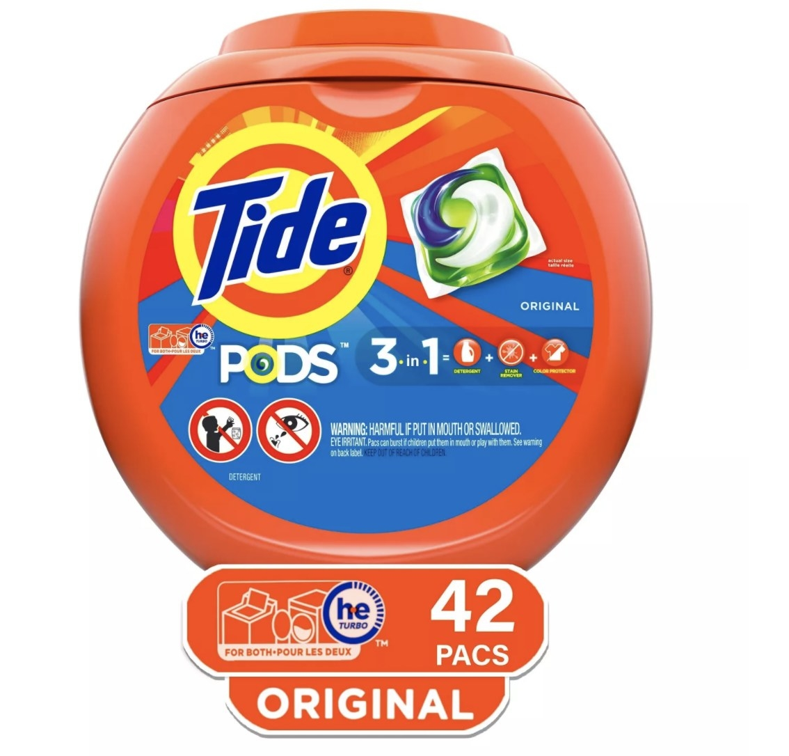 The box of Tide pods