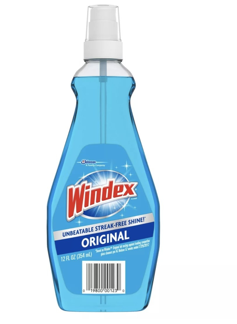 The bottle of Windex