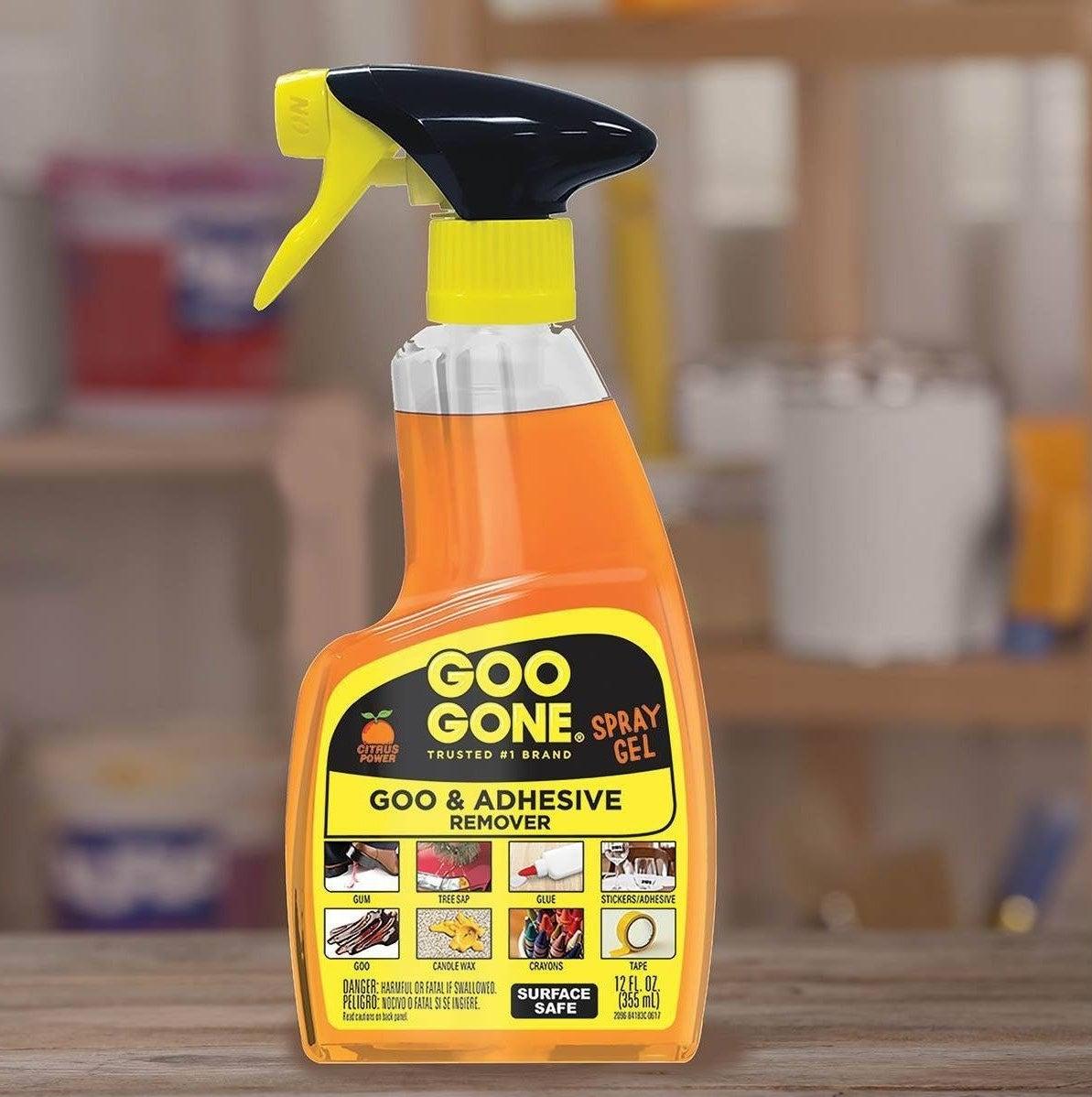 The Goo Gone spray bottle