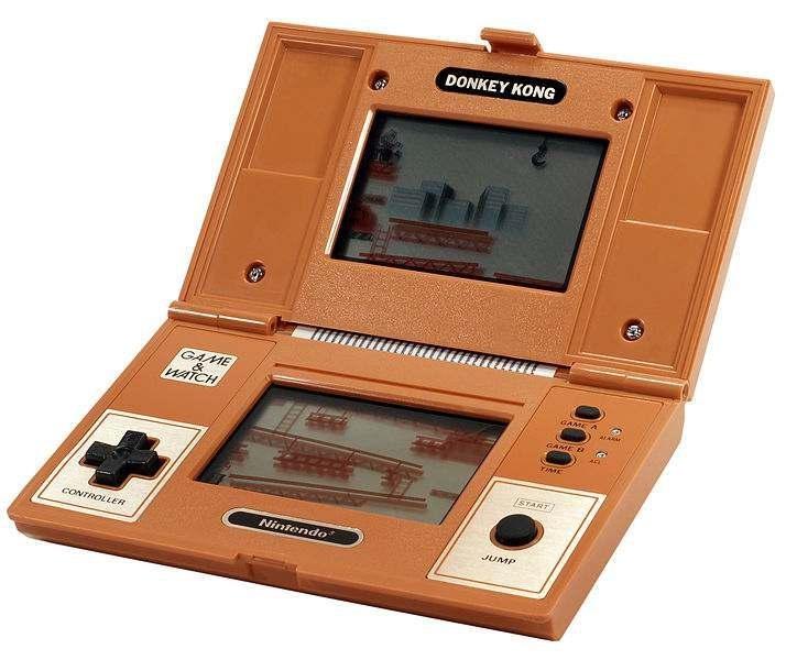 Orange Nintendo Donkey Kong handheld controller