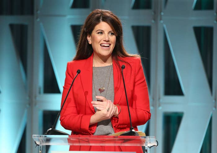 Monica Lewinsky speaking at The Hollywood Reporter's Power 100 Women In Entertainment.