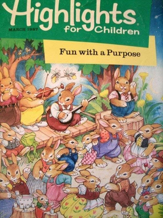 Highlights for Children magazine from 1987