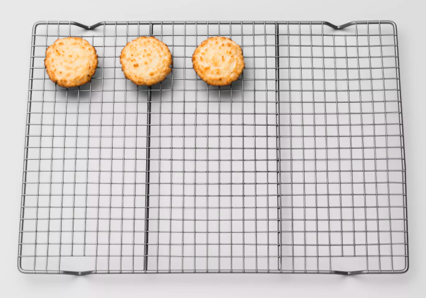 The cooling rack, which is big enough to fit 15 one-inch cookies