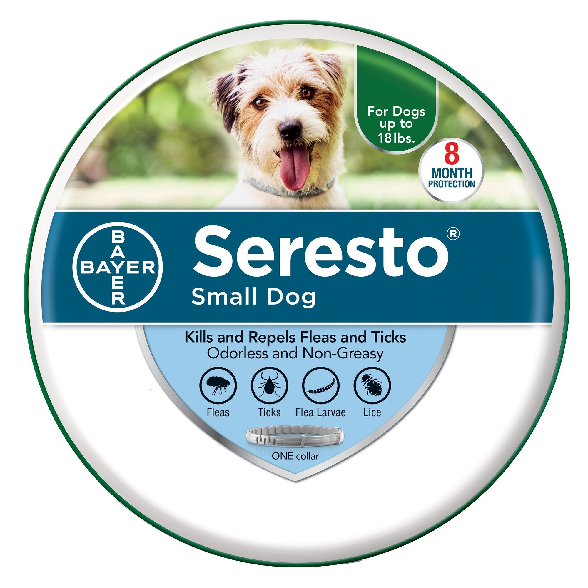 A package containing the Seresto tick and flea collar.
