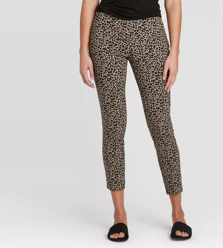 cropped leopard print pants