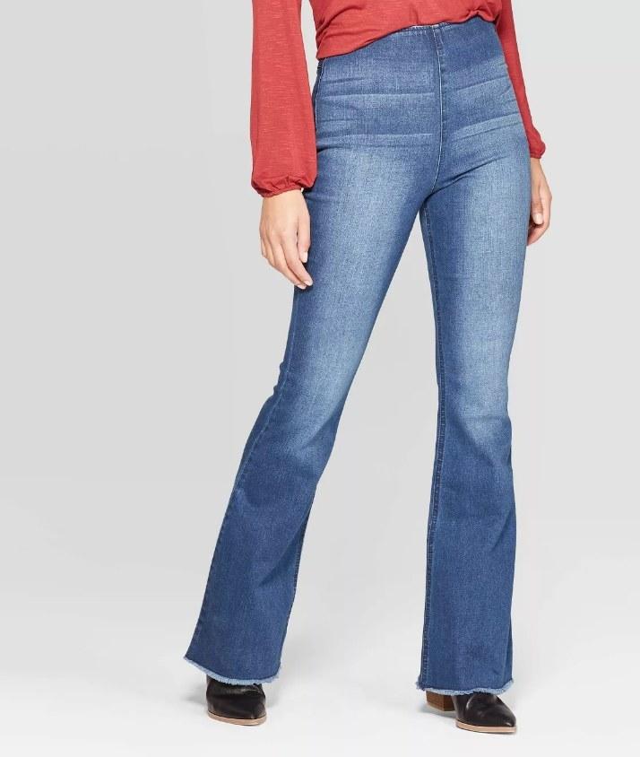 flair denim jeans