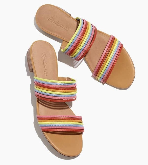 The sandals in multi-color