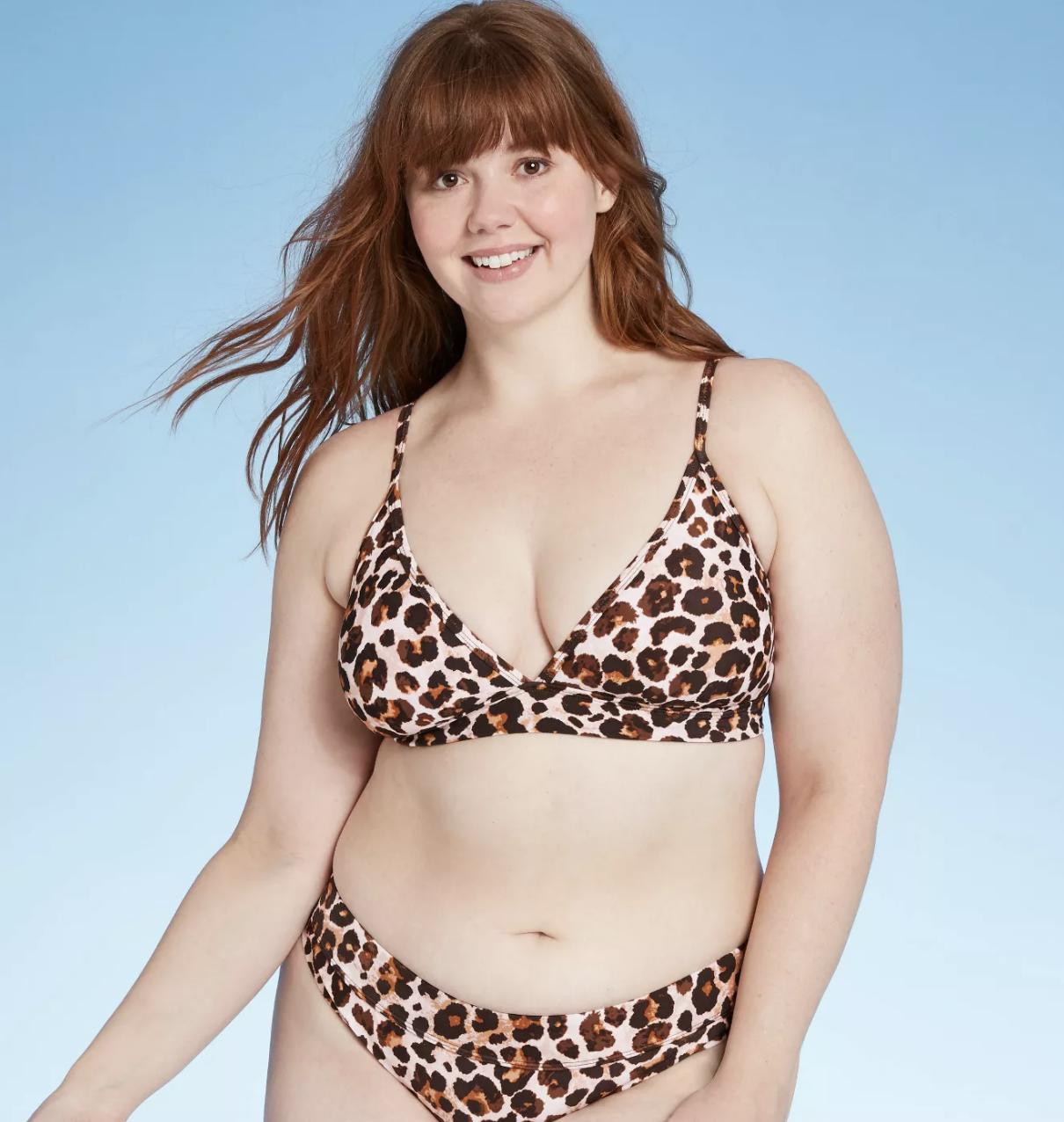 a leopard print bikini