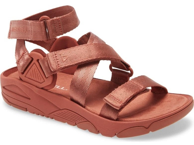 Merrell Belize Sandal in redwood fabric